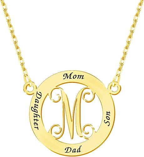 Monogram Pendant Sterling silver Made to order Custom Letters Bridesmaid Necklaces Personalized Jewelry Monogram initials Necklace