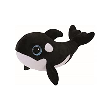 Ty Nona Peluche Ballena, Color Negro, Blanco (United Labels Ibérica 36893TY)