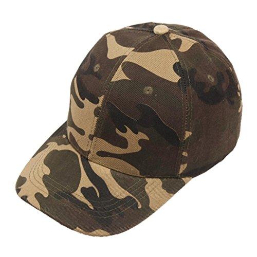 BCDshop Hat Men Women Camo Baseball Caps Outdoor Climbing Hiking Fishing Caps Dance Hats (Brown)