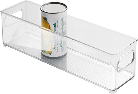 'InterDesign Refrigerator and Freezer Storage Container – Deep Organizer Bin for Kitchen, Clear' from the web at 'https://images-na.ssl-images-amazon.com/images/I/51VnifOahFL._AC_SY375_.jpg'