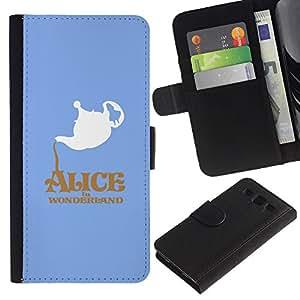 JackGot ( Alicia en el país Wonderlnd ) Samsung Galaxy S3 III i9300 i747 la tarjeta de Crédito Slots PU Funda de cuero Monedero caso cubierta de piel