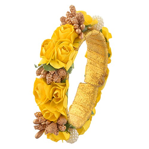 Oreleaa Fashion Adjustable Bangle Mehndi Ceremony With Floral Design For Girls and Women - Floral Design Bangle