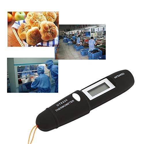 DT8220 Mini Term/ómetro Digital LCD infrarrojo Medidor de temperatura Probador L/áser rojo Sin contacto Pir/ómetro Pluma Hogar Negro