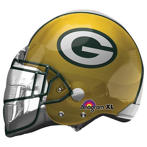 - Anagram 26162 NFL Green Bay Packers Football Helmet Foil Balloon, 21