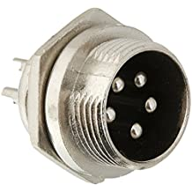 Seismic Audio-New Male Mini XLR Panel Mount Connector-5 Pin