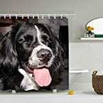 buygohome Border Collie - Shower Curtain - Water, Soap, and Mildew Resistant - Shower Hooks are Included 5