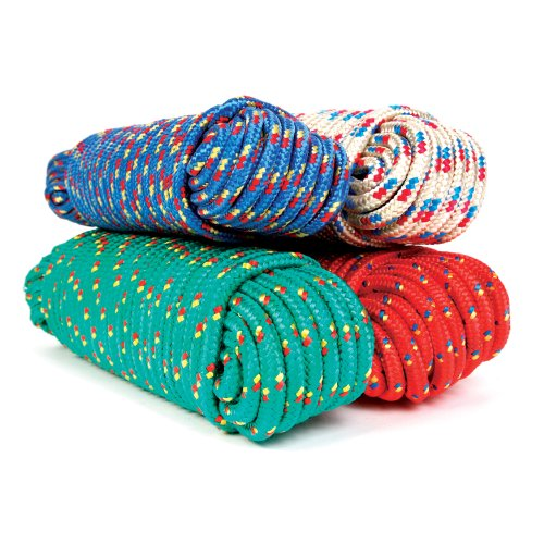 Koch 5171224 3/8 by 50-Feet Poly Diamond Braid Rope, Assorted (Diamond Braid Rope)