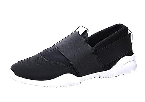 Calzado Deportivo para Hombre - Sin Cordones - Color Negro - LY-177: Amazon.es: Zapatos y complementos