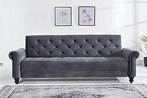 Casa-Padrino Sofá de diseño Gris 225 cm x 90 cm x 80-113 cm ...