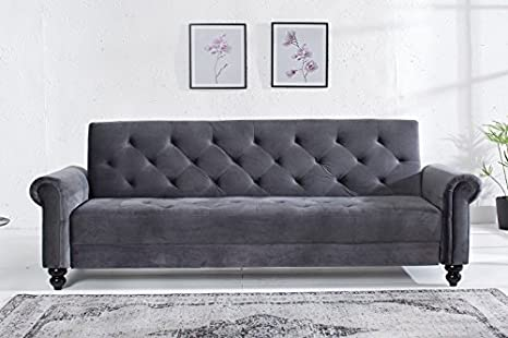Casa Padrino Sofá de diseño Gris 225 cm x 90 cm x 80-113 cm ...