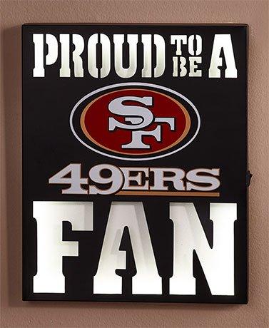 Amazon.com : NFL LED Metal Wall Art ( 49ers ) : Everything Else