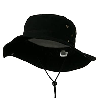 07ad9b84 Extra Big Size Brushed Twill Aussie Hats - Black (for Big Head) at ...