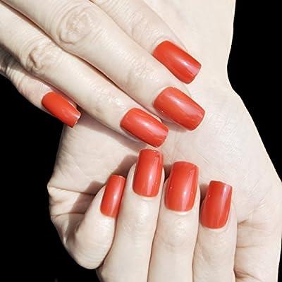 echiq largo cuadrado con parte superior plana cabeza falsa uñas completo para uñas postizas manicura uñas postizas Salon