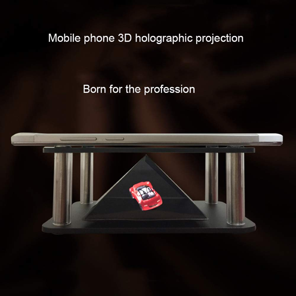 LYXLQ Proiezione olografica /è la Prima Scelta per Regali per Bambini Piramide di proiezione olografica 3D Produzione cinematografica olografica di Immagini Stereo virtuali Fai-da-Te