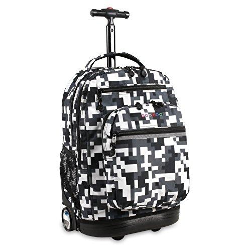 (J World New York Sundance Laptop Rolling Backpack Backpack,)
