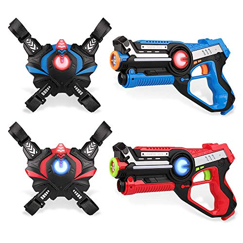Kidpal Laser Tag, Laser Gun with Vest for Home Game, Lazer Tag Set with Gun for Kids Boy & Girl Toys Age 6 7 8 9 10 11 12+ Best Choice Laser Blaster Infrared Laser Tag Game Indoor Outdoor