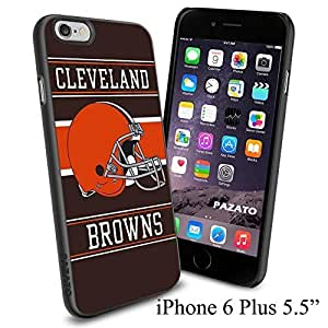 """Zheng caseZheng caseNFL CLEVELAND BROWNS , Cool iPhone 4/4s (6+ , 5.5"""") Smartphone Case Cover Collector iphone TPU Rubber Case Black"""