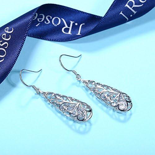 Pendientes de plata de ley 925 con dise/ño de p/ájaro tuc/án con 2 cristales