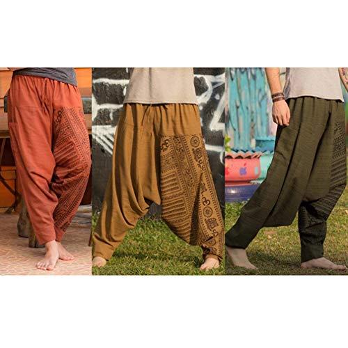 Hippies Harem Tallas Estampado Casuales M Hombre Elástica Yoga HxPnw7OAP