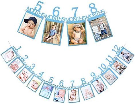 Amazon.com: Qibote - Banderines de 1 cumpleaños, diseño de ...