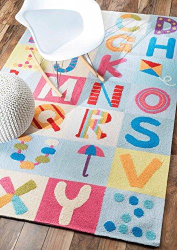 Casa Contemporary Rug - nuLOOM Alphabet Boxes Rug, Multicolor