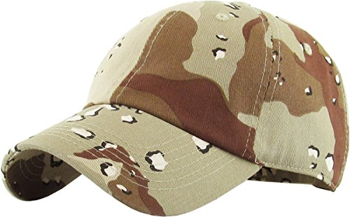 KB-LOW DES Classic Cotton Dad Hat Adjustable Plain Cap. Polo Style Low Profile (Unstructured) (Classic) Desert Camo Adjustable (Desert Classic)