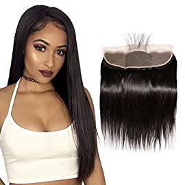 "Puddinghair 10"" Brazilian Straight Hair Bundle, 100% Unprocessed Virgin Human Hair (Soft& Silky, 100g, Natural Black Color) Straight Human Hair Weave 1 Bundle"