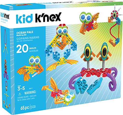 K'NEX Kid Ocean Pals Building Set – 65Piece – Ages 3 & Up Preschool Educational Toy Building Set
