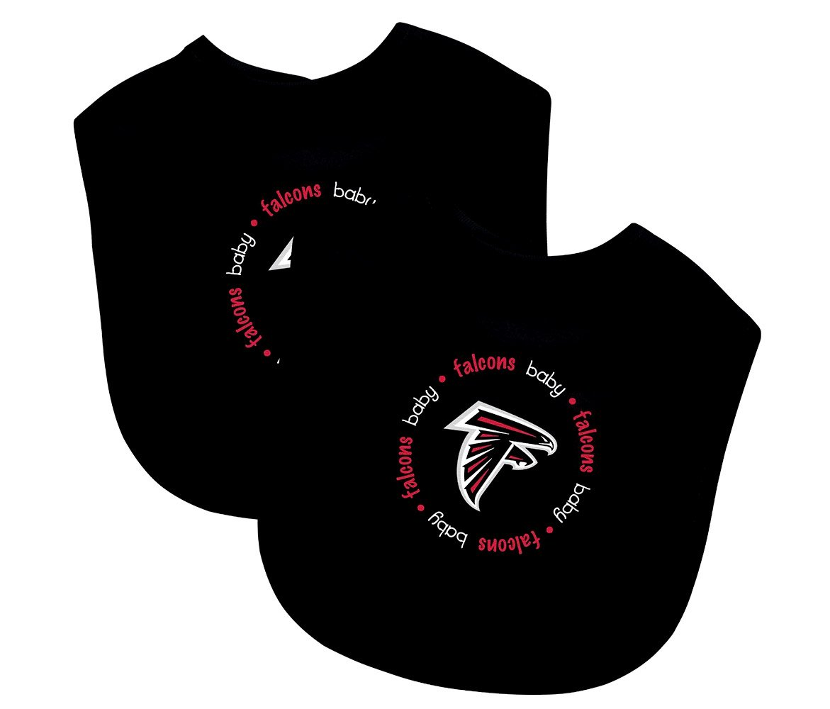 Mozlly Multipack - Baby Fanatic Atlanta Falcons Feeding Bibs - Cotton - Velcro Closure - Toddler Sports Accessories (2pc Set) (Pack of 6)