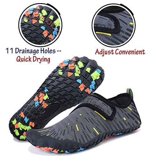 dfc7cae67b1390 ... JointlyCreating Women Men Water Shoes Quick Dry Barefoot Sports Aqua  Durable Outsole Shoes for Swim Beach ...