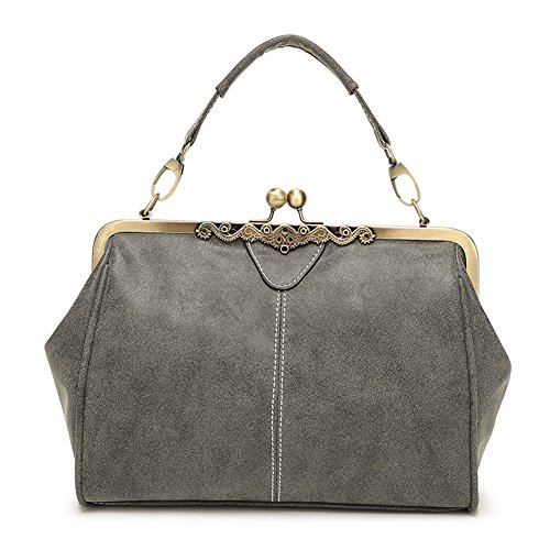 Purses Shoulder Grey Leather Faux Vintage Handbags Abshoo Abshoo Women Women qvtHRR