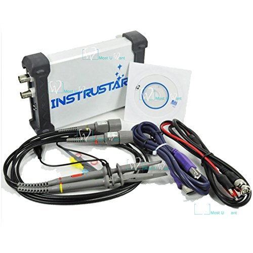 - Test Equipment PC Based 3in1 USB Digital Oscilloscope 2CH 20MHz 48MS/s Spectrum Analyzer Data Logger