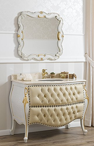Como cassettone lavabo bombato e specchio stile Barocco Veneziano ...