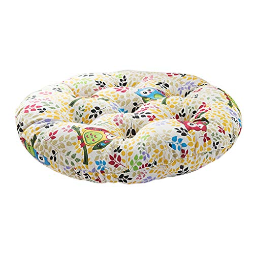 Vcenty Mat Chair Cushion Round Small Fresh Ethnic Style Upholstery Soft Padded Cushion Pad Office Deep Rocking Home Or Car Seat Cushion