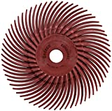 Dedeco Sunburst - 3'' TC Radial Bristle Discs - 3/8'' Arbor - Industrial Thermoplastic Rotary Cleaning and Polishing Tool, Standard 220 Grit (12 Pack)