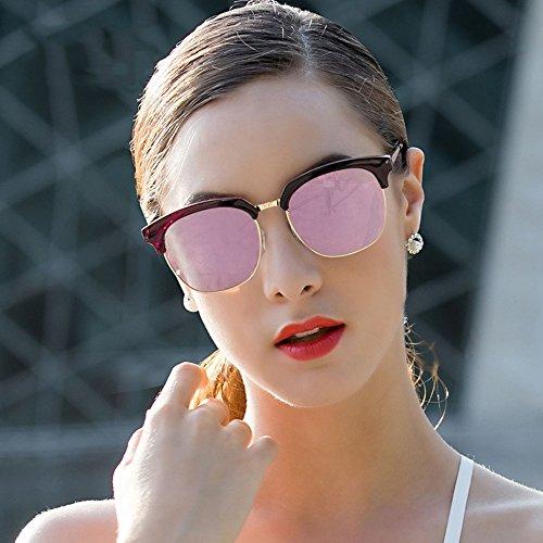 turismo Color UV400 de sol sin protección gafas de 100 de B montura conducción semi Gafas marco B polarizadas ZHIRONG pqRZx7aa