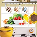 Neartime Kitchen Oilproof Wall Stickers Papers Art Vinyl Removable Bedroom Living Room Home Applique Mural Decor Decal (❤️75cm×45cm, Multicolor)