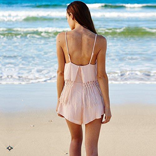 Casual Sólido Meizizivestido MeiZiZi De De Pink Color Noche Vestido Vestido Aq775wZ