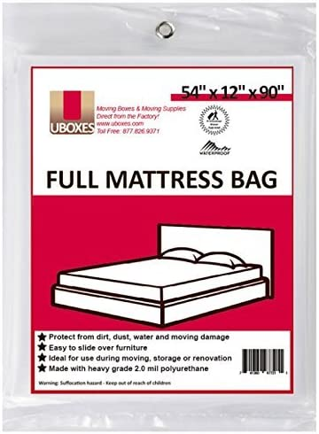 UBOXES Moving Supplies Full Size Mattress Bag 54 x 12 x 90 FULLSCOVER01