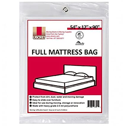 Amazon.com: Moving Supplies (1 Pack) Full Size Mattress Bag 54