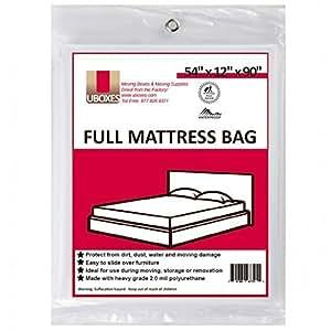 "Moving Supplies (1 Pack) Full Size Mattress Bag  54"" x 12"" x 90""  mattress covers"