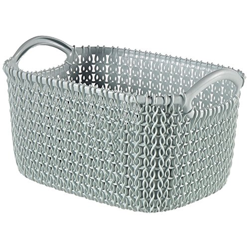 Curver Basket Rectangular Knit 9,76x6,89x5,47in in Misty - Knit Basket