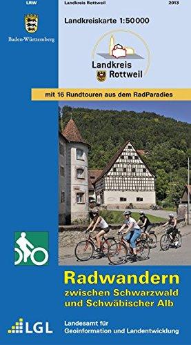 Landkreis Rottweil: Radwandern zwischen Schwarzwald und Schwäbischer Alb (Landkreiskarte)
