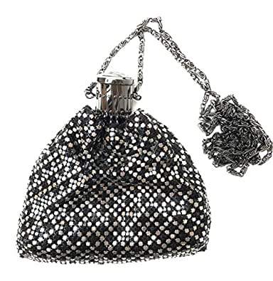 Womens clutch metal mesh evening purse (Not a small coin purse) for Cocktail Party Prom Wedding Banquet Multi Size: Small