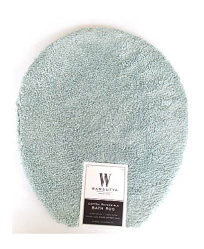 Wamsutta Ultra-Soft Sheared 100% Cotton Toilet Lid Cover, 16 1/2 L X 13 1/2 W (Sheared Cotton)