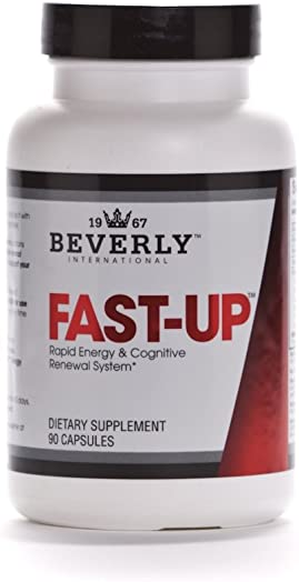Beverly International Fast-Up, 90 Capsules. The Feel-Better, Get-More-Done Brain Booster. Ups Mood, Energy, Motivation and Cognitive Performance in Moments.