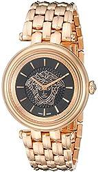 Versace Women's VQE050015 KHAI Analog Display Swiss Quartz Gold Watch