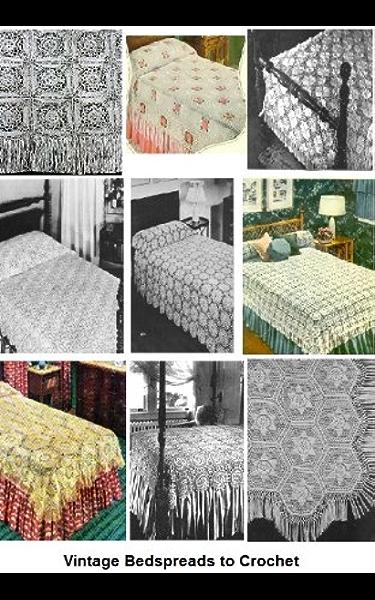 Vintage Crochet Pineapple Frosting Motif Bedspread PATTERN ONLY