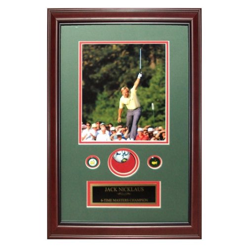 Jack Nicklaus Autographed Golf Ball (1986 Masters) Shadowbox Frame