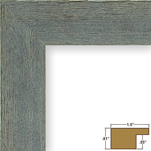 Craig Frames Barnwood Chic, Rustic Hardwood Picture Frame, Gray, 8 by 10-Inch